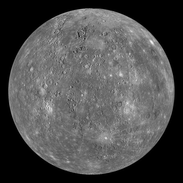 Mosaic image of Mercury, taken by MESSENGER