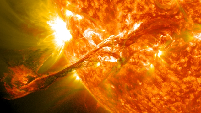 Image of solar eruption