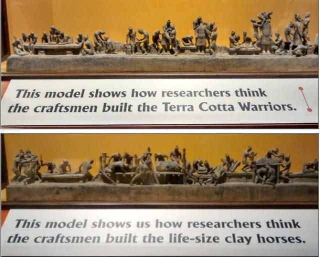 Displays in the Terra Cotta Warriors Exhibit