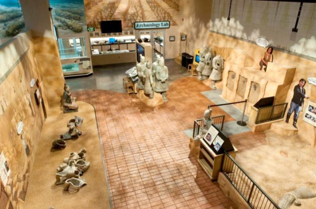 I didn't get pictures of the labs either. Here is a picture of the Treasures of the Earth exhibit from the Children's Museum website.