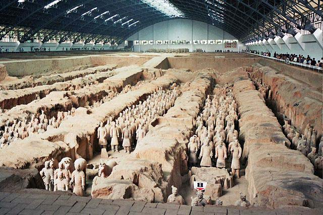 Terra Cotta Warriors in Pits in China