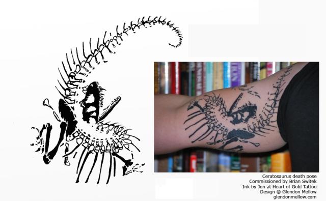 Ceratosaurus Death Pose, by Glendon Mellow