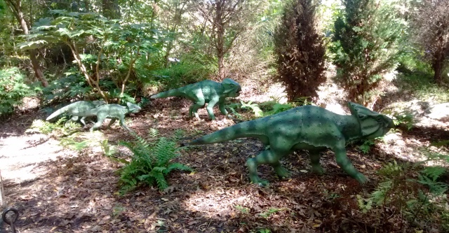 Leptoceratops on the Dinosaur Trail at the Museum of Life + Science