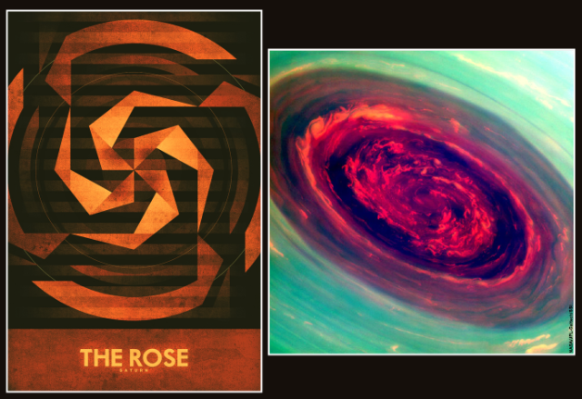 Saturn: The Rose, by Ron Guyatt compared to NASA image of the Rose