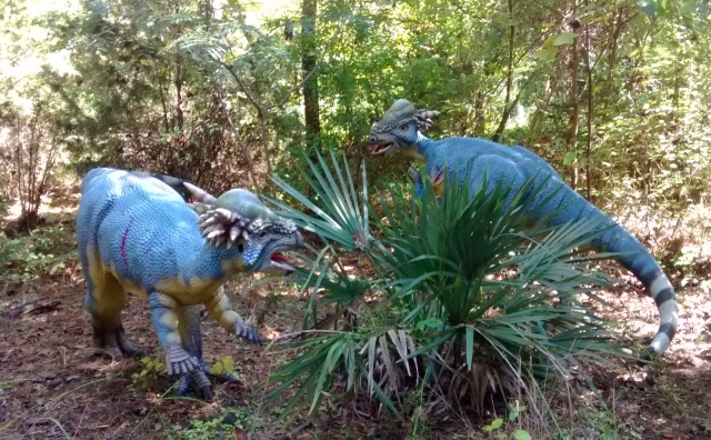 Stygimoloch on the Dinosaur Trail at the Museum of Life + Science