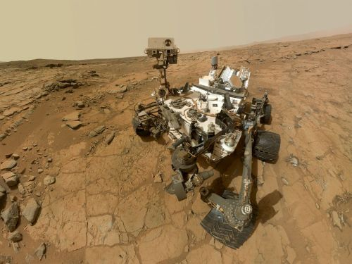 The Curiosity Rover takes a selfie on Mars