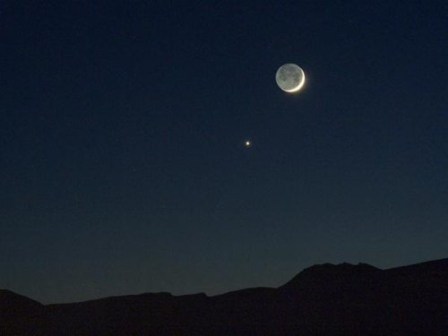 Venus and the Moon after Sunset