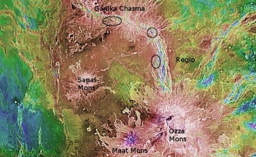 Volcanic Hotspots on Venus